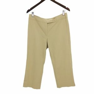 FACONNABLE Beige Cropped Wide Leg Pants Size 10